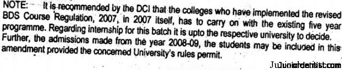 2007-08 batch Regulation update