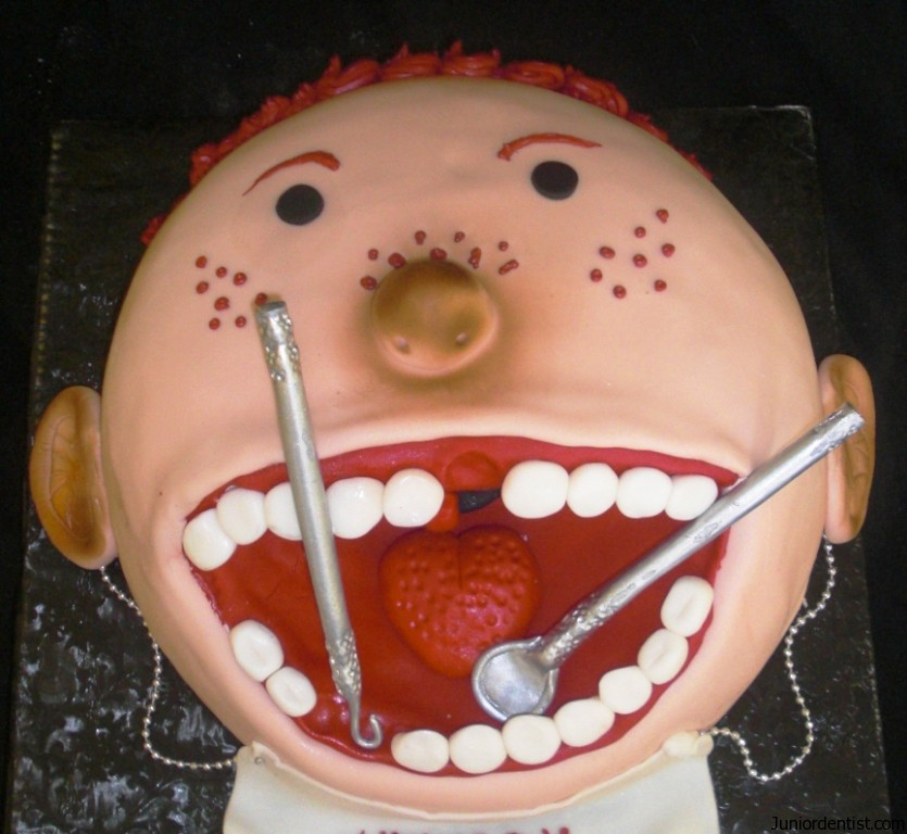 Birthday Cake Design For Dentist : Pin Dentist Themed Cookies Do You See The Irony Cake on ...