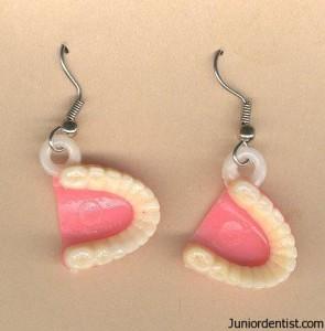 Denture Ear rings - Dental Jewelry