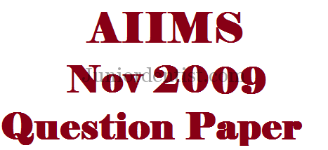 AIIMS november 2009 MDS/Dental solved question paper