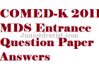 Comed k 2011 question paper with answers