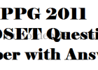 appg mdset 2011 question paper