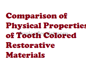 comparison of physical properties of dental materials