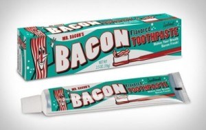 Bacon flavour toothpaste