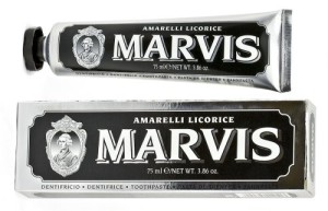 Licorice flavoured toothpaste