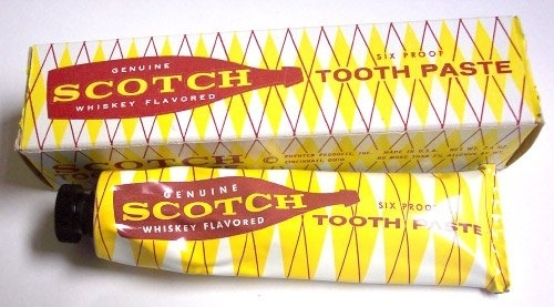 Scotch flavored toothpaste