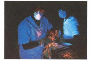 Dental Aerosols seen under UV light